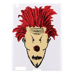 Evil Clown Hand Draw Illustration Apple Ipad 3/4 Hardshell Case by dflcprints