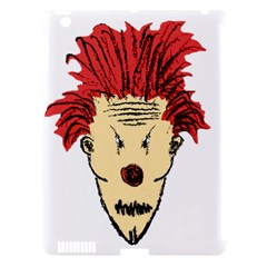 Evil Clown Hand Draw Illustration Apple Ipad 3/4 Hardshell Case (compatible With Smart Cover) by dflcprints