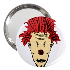 Evil Clown Hand Draw Illustration 3  Handbag Mirror by dflcprints