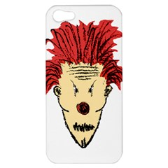 Evil Clown Hand Draw Illustration Apple Iphone 5 Hardshell Case by dflcprints