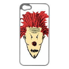 Evil Clown Hand Draw Illustration Apple Iphone 5 Case (silver) by dflcprints