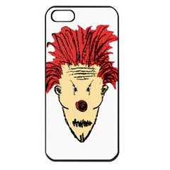 Evil Clown Hand Draw Illustration Apple Iphone 5 Seamless Case (black) by dflcprints