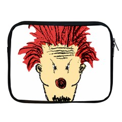 Evil Clown Hand Draw Illustration Apple Ipad Zippered Sleeve by dflcprints