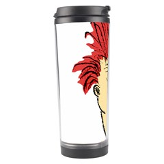 Evil Clown Hand Draw Illustration Travel Tumbler by dflcprints