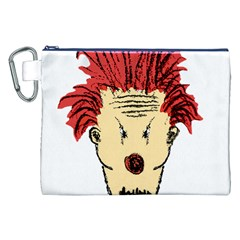 Evil Clown Hand Draw Illustration Canvas Cosmetic Bag (xxl) by dflcprints