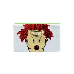 Evil Clown Hand Draw Illustration Cosmetic Bag (xs) by dflcprints