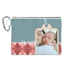 Baby By Baby   Canvas Cosmetic Bag (large)   Tehd18k9cs7x   Www Artscow Com Front