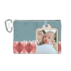 Baby By Baby   Canvas Cosmetic Bag (medium)   1wiz9btiyhuu   Www Artscow Com Front