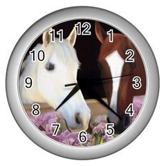 Friends Forever Wall Clock (silver) by JulianneOsoske