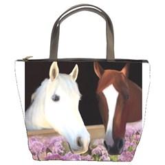 Friends Forever Bucket Handbag by JulianneOsoske