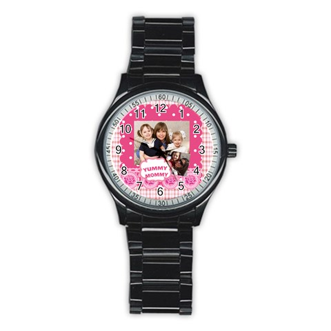 Mothers Day By Mom   Stainless Steel Round Watch   D2u0ehx78v79   Www Artscow Com Front