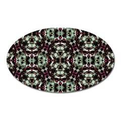 Geometric Grunge Magnet (oval) by dflcprints