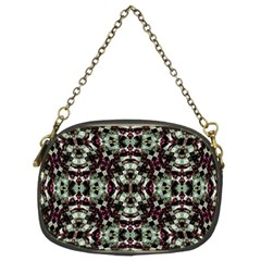 Geometric Grunge Chain Purse (two Sided)  by dflcprints