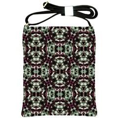 Geometric Grunge Shoulder Sling Bag by dflcprints