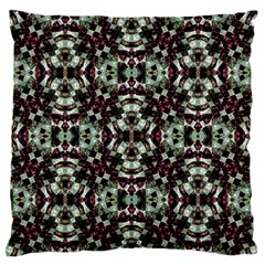 Geometric Grunge Large Flano Cushion Case (two Sides) by dflcprints