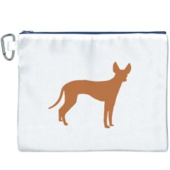 Cirneco Delletna Silo Color Canvas Cosmetic Bag (XXXL) by TailWags