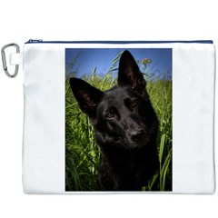 Black German Shepherd Canvas Cosmetic Bag (XXXL) by TailWags