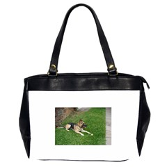 3 German Shepherd Laying Oversize Office Handbag (Two Sides) by TailWags
