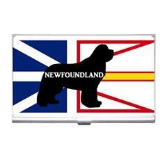 Newfoundland Name Silo On Flag Business Card Holder by TailWags