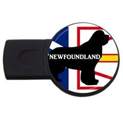 Newfoundland Name Silo On Flag 4GB USB Flash Drive (Round) by TailWags