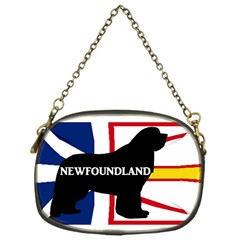 Newfoundland Name Silo On Flag Chain Purse (One Side) by TailWags
