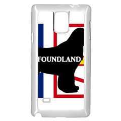 Newfoundland Name Silo On Flag Samsung Galaxy Note 4 Case (White) by TailWags