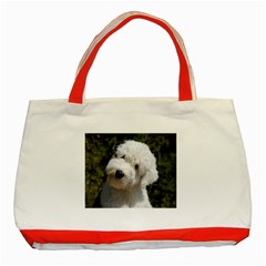 Old English Sheep Dog Pup Classic Tote Bag (Red) by TailWags