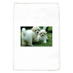 White 2 Poodle Pups Removable Flap Cover (Large) by TailWags