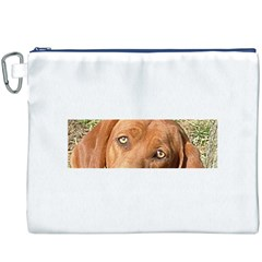 Redbone Coonhound Eyes Canvas Cosmetic Bag (XXXL) by TailWags