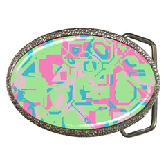 Pastel Chaos Belt Buckle by LalyLauraFLM