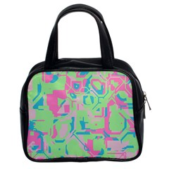 Pastel Chaos Classic Handbag (two Sides) by LalyLauraFLM
