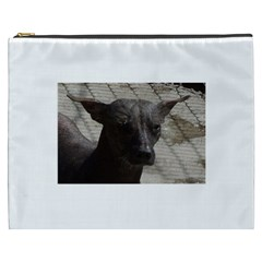 mexican hairless / Xoloitzcuintle Cosmetic Bag (XXXL) by TailWags
