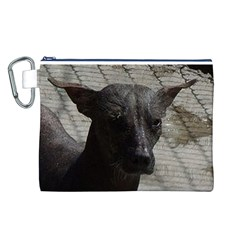 mexican hairless / Xoloitzcuintle Canvas Cosmetic Bag (Large)