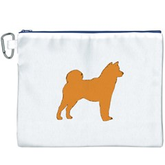 Shiba Inu Silo Color Canvas Cosmetic Bag (XXXL) by TailWags