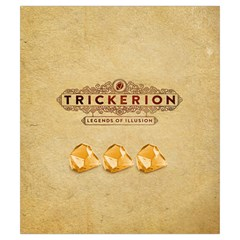 Trickerion   Shard By Keven Ruest   Drawstring Pouch (small)   1hycd6fgnb9w   Www Artscow Com Front