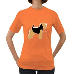 Welsh Terrier Silo Color Women s T-shirt (Colored) by TailWags