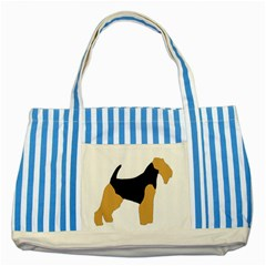 Welsh Terrier Silo Color Blue Striped Tote Bag by TailWags