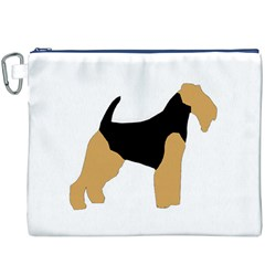 Welsh Terrier Silo Color Canvas Cosmetic Bag (XXXL) by TailWags
