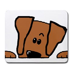 Peeping Vizsla Large Mouse Pad (Rectangle) by TailWags
