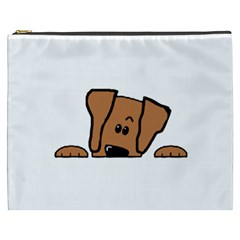 Peeping Vizsla Cosmetic Bag (XXXL) by TailWags