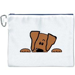 Peeping Vizsla Canvas Cosmetic Bag (XXXL) by TailWags
