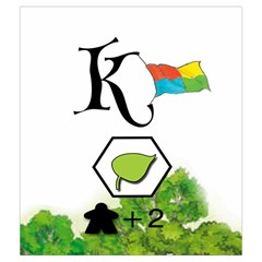 Keyflower Spring Tiles By Jon   Drawstring Pouch (medium)   919n8exaqq2a   Www Artscow Com Front