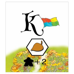 Keyflower Fall Tiles By Jon   Drawstring Pouch (medium)   Ecbhp51shcs8   Www Artscow Com Front