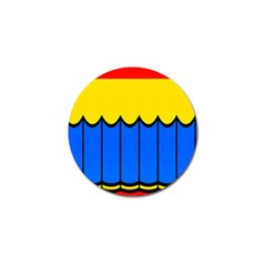 Colorful Curtain Golf Ball Marker by LalyLauraFLM