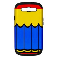 Colorful Curtain Samsung Galaxy S Iii Hardshell Case (pc+silicone) by LalyLauraFLM