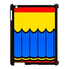 Colorful Curtain Apple Ipad 3/4 Case (black) by LalyLauraFLM