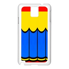 Colorful Curtain Samsung Galaxy Note 3 N9005 Case (white) by LalyLauraFLM