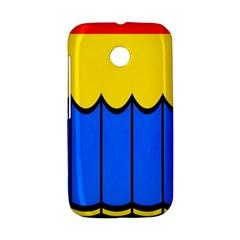 Colorful curtain Motorola Moto E Hardshell Case by LalyLauraFLM