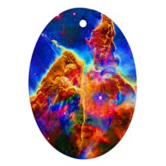 Cosmic Mind Oval Ornament by icarusismartdesigns