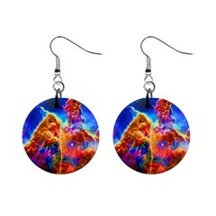 Cosmic Mind Mini Button Earrings by icarusismartdesigns